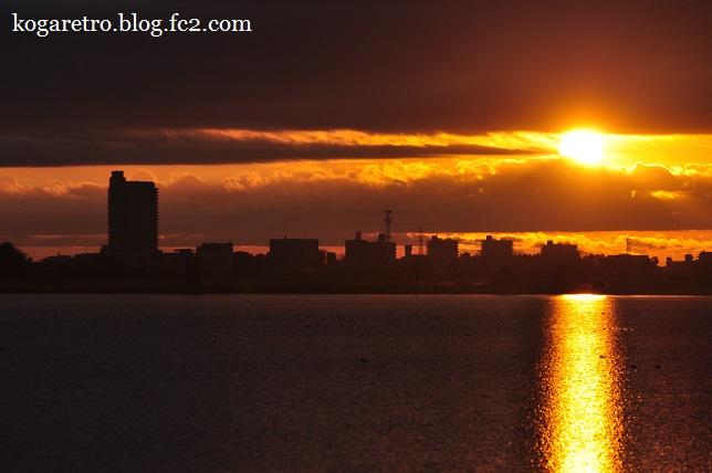 渡良瀬遊水地の朝日(2)