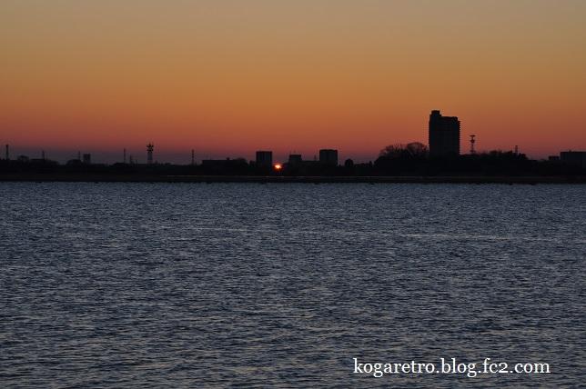 渡良瀬遊水地の初日の出