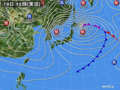 19日天気図