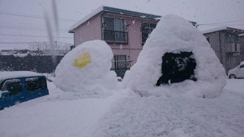 雪だるまおにぎり