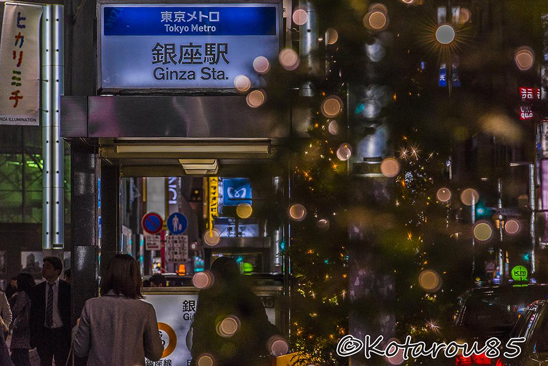 雪降る銀座 20151128