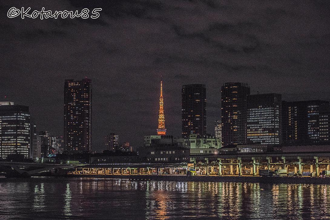 築地市場と東京タワー 20151219