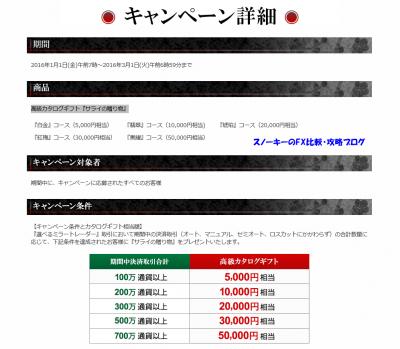 選べるミラートレーダーカタログギフトキャンペーン3