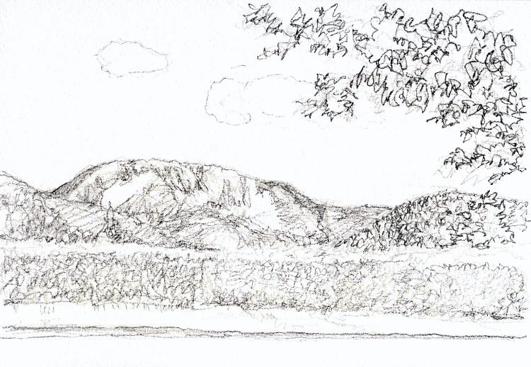 SEから見た伊吹山 デッサン (750x518)