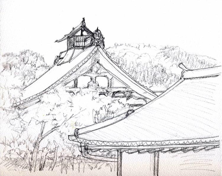 嵐山天龍寺にて デッサン (750x593)