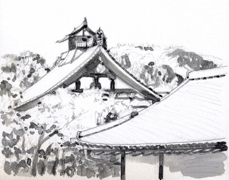 嵐山天龍寺にて グリザイユ (750x590)