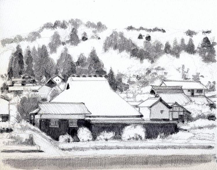 山里の民家山王 グリザイユ (750x589)