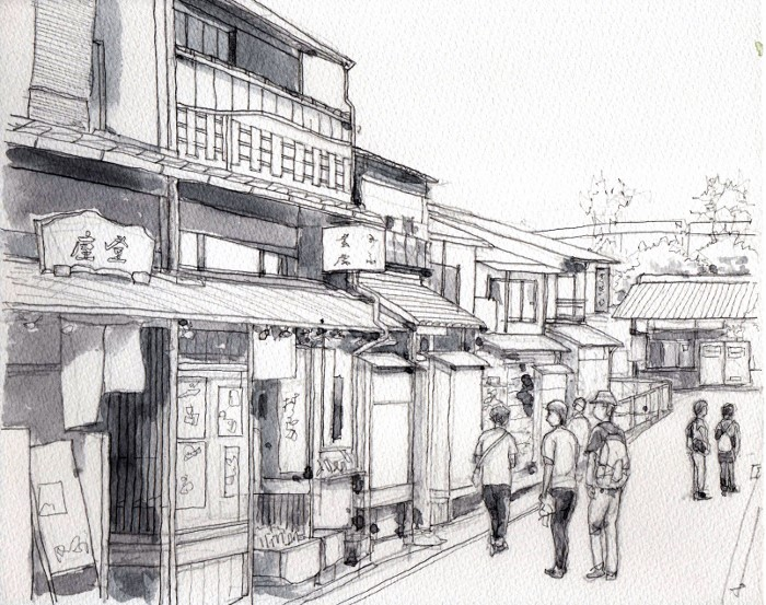 高台寺前 グリザイユ (700x553)