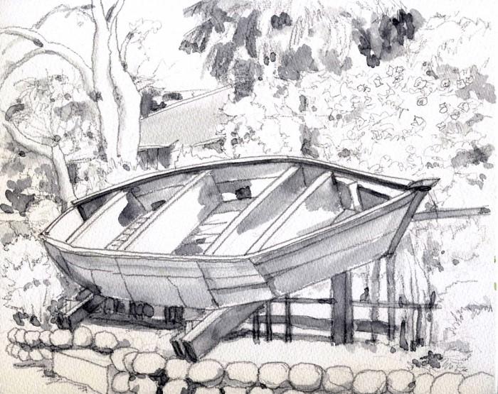 三枚船の展示 グリザイユ (700x555)