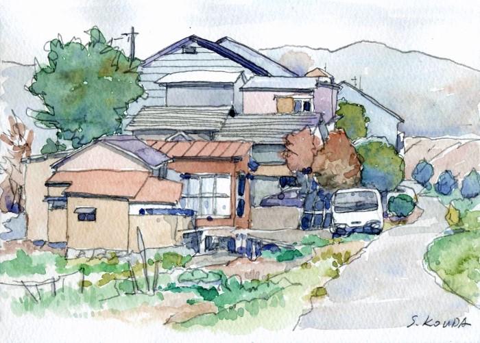 唐崎付近 マルマン紙ハガキ大 (700x501)