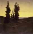アーノルド・ペックリン「樅の木のある高原」