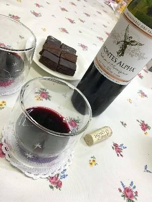 ワインとチョコ