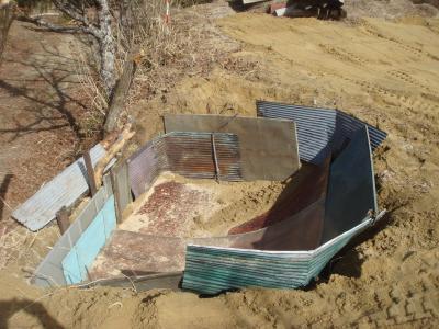牛糞堆肥置き場