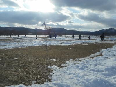 雪がないパークゴルフ場