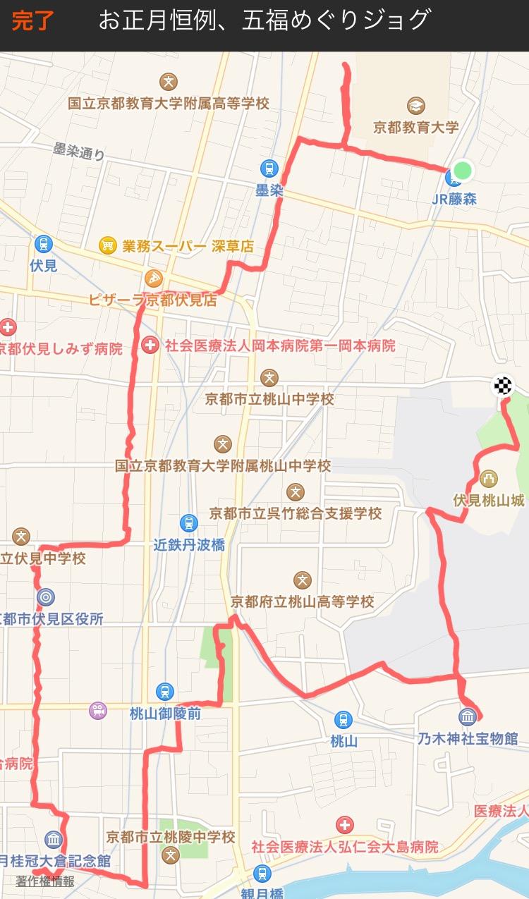五福めぐりマップ