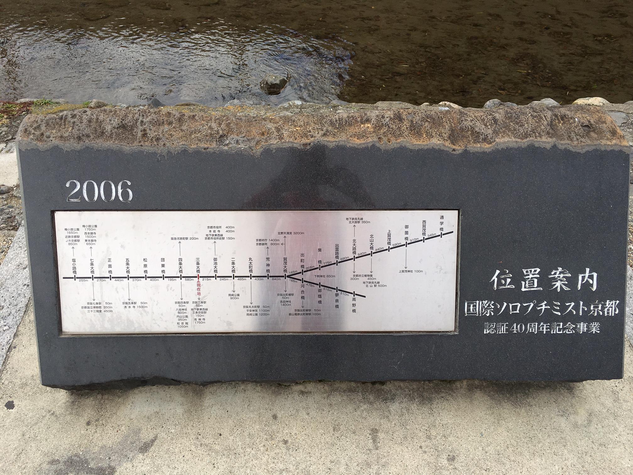 鴨川河川敷の距離