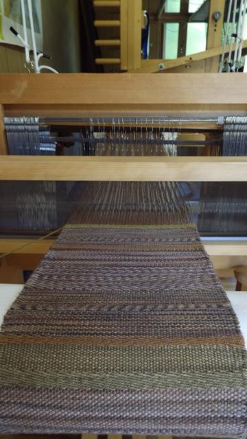 綾織りマフラー