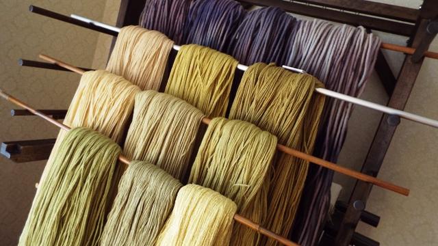 シルクウール染め糸