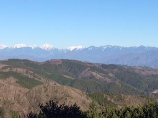 茶臼山から見た南アルプス