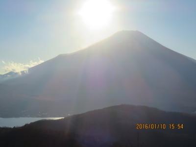 石割山から富士山と山中湖
