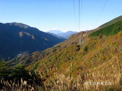 厳道峠より富士山