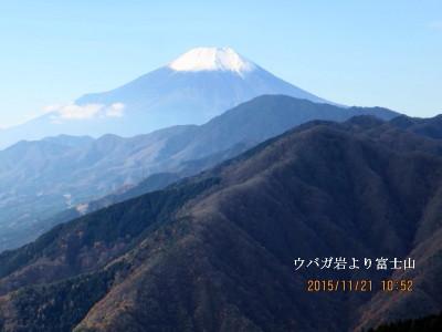ウバガ岩より富士山