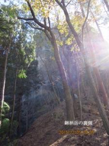 鍬柄岳の裏側(岩壁)
