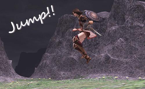 ジャンプきたー!