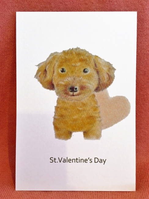 Valentines Cardプードル