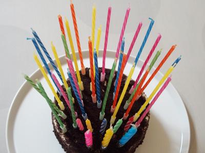 誕生日ケーキ 歳の数だけ