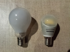 クリプトン球とLED電球比較