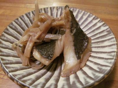 ヒラメのはちみつ梅煮2