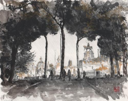 ヴェネツィア広場を望む