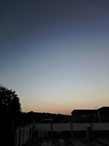 2016年初の夕空