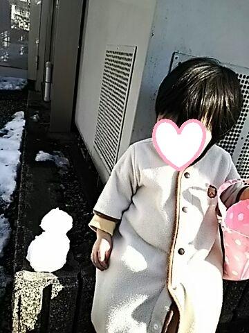 娘と雪だるま