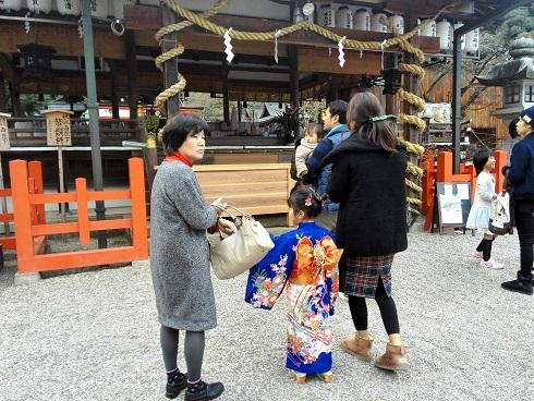 8 龍田大社へ初詣