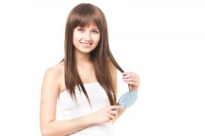 きれいな髪の女性