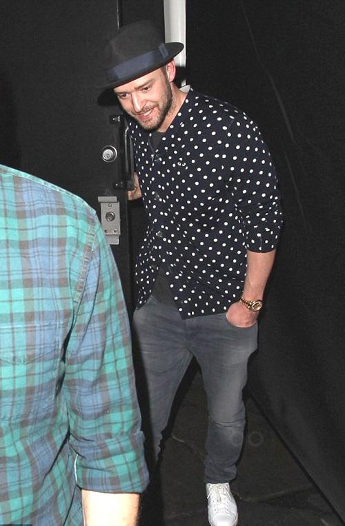 ジャスティン・ティンバーレイク(Justin Timberlake):コム デ ギャルソン(Comme des Garcons)/アディダス(Adidas)/ロレックス(Rolex)