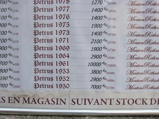 古いワインの価格