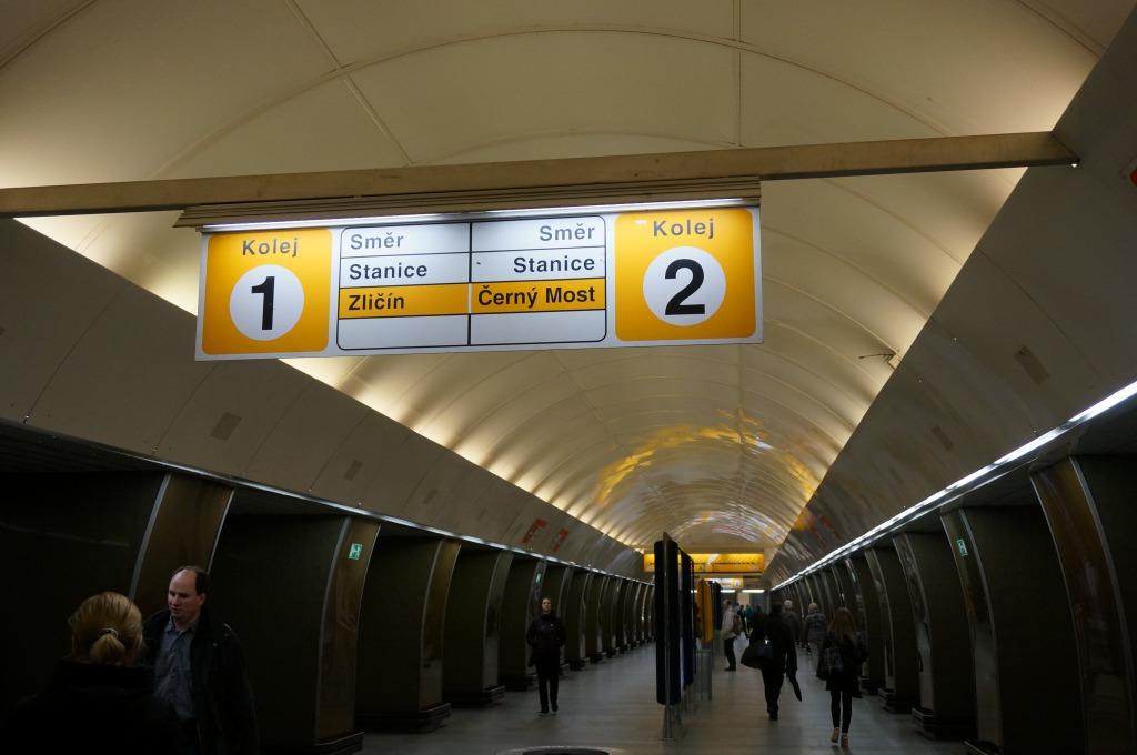 プラハ地下鉄ホーム