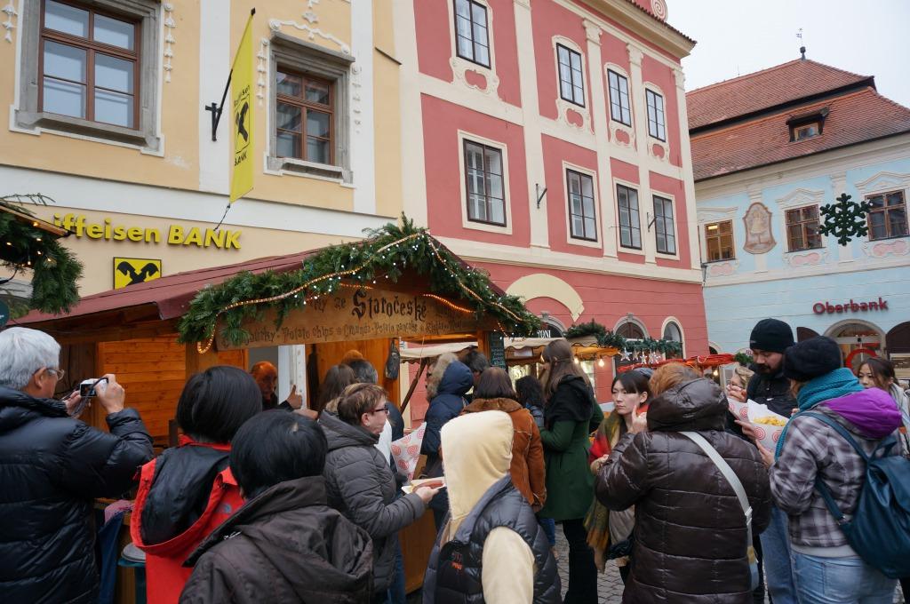 チェスキー・クルムロフ クリスマスマーケット