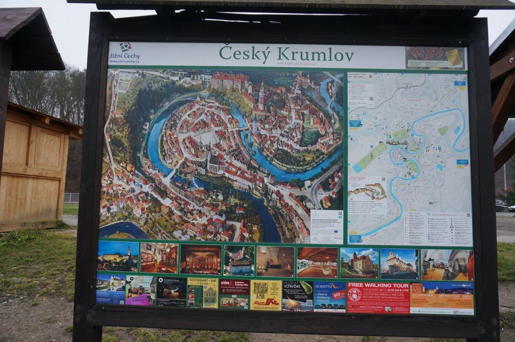 チェスキー・クルムロフ看板