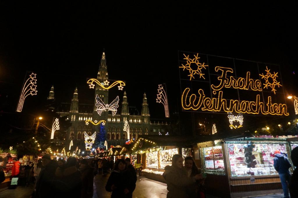 ウィーン市庁舎前クリスマスマーケット
