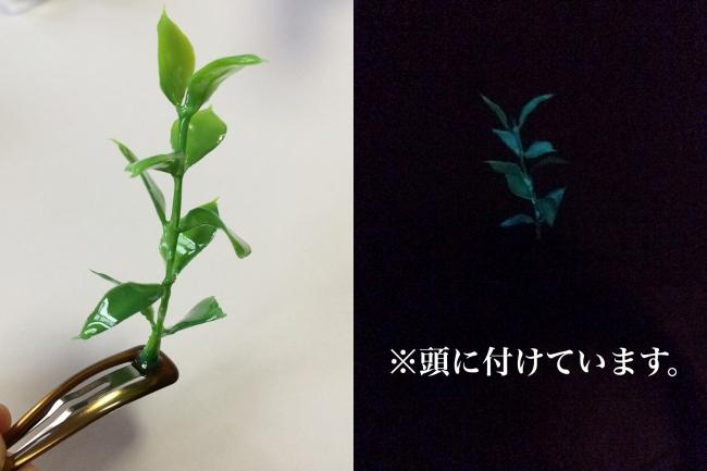 052 中国 草 髪飾り 自作 レジン 蓄光.jpg