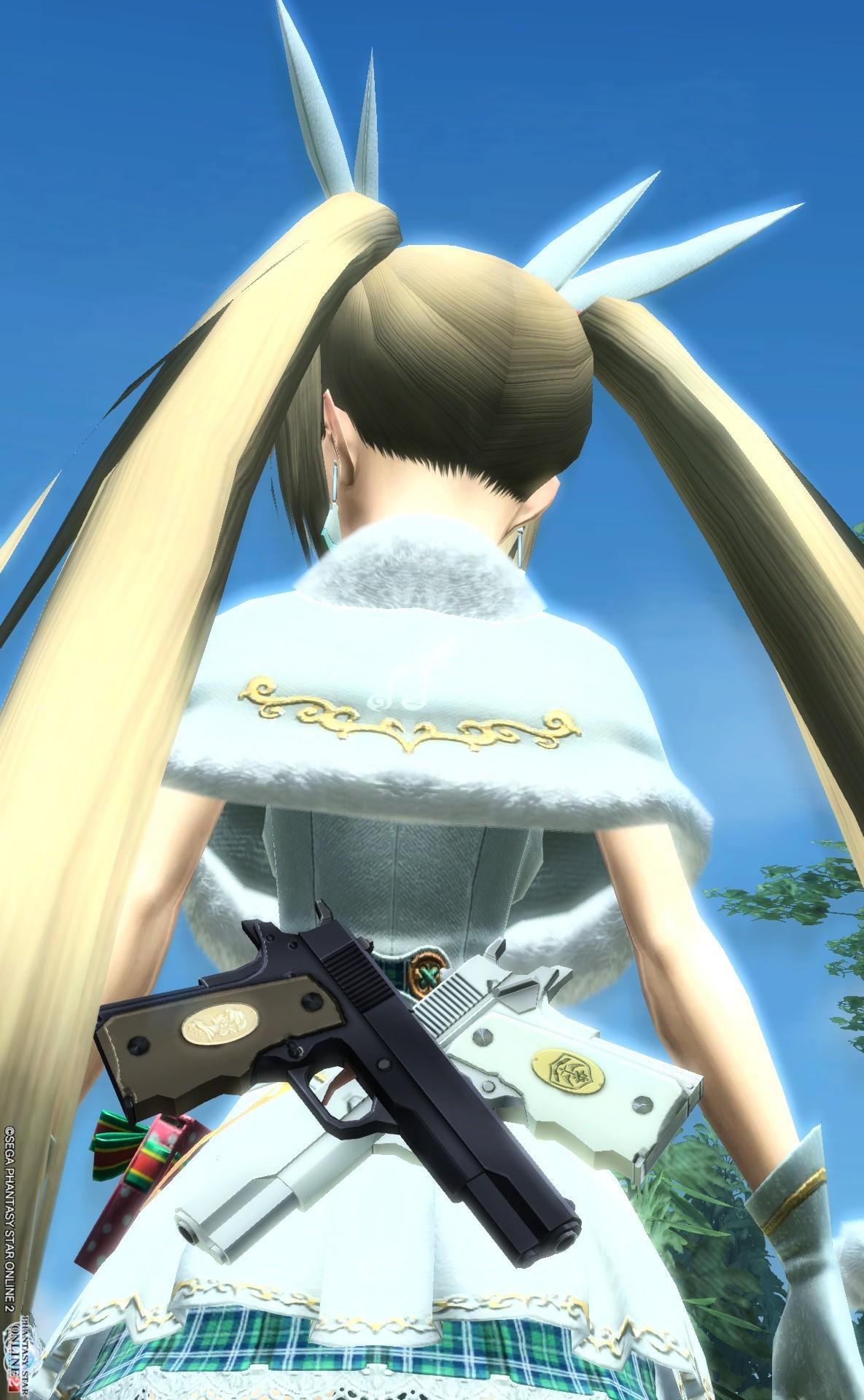 *アリアの双剣双銃(ツインマシンガン)その1