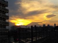 20160103夕暮れの富士山2