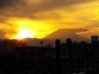 20160103夕暮れの富士山3