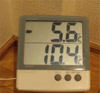 20160125朝の気温
