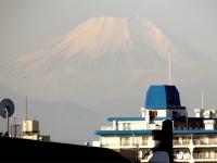 20160114三鷹跨線橋からの富士山2