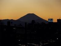 20160125三鷹跨線橋からの富士山1